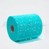 Turquoise Sequin Tulle Roll